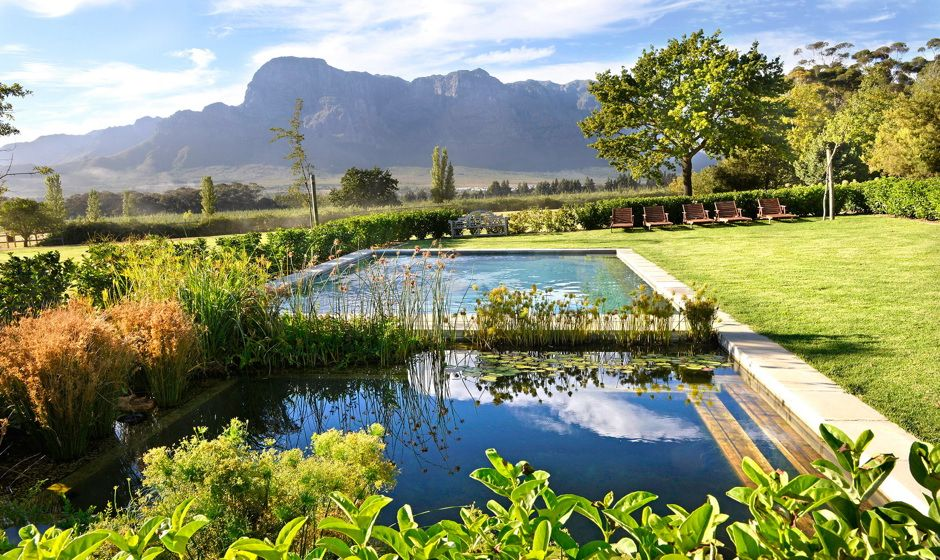 Boschendal Farm Rhodes cottage pool