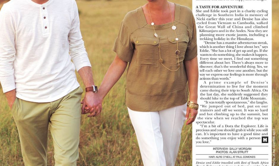 Page 3 from Hello! magazine featuring Denise Van Outen in South Africa