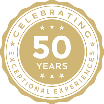 Celebrating 50 years of Exceptional Experiences